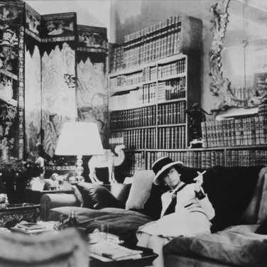 Coco Chanel, House of Chanel, Paris  photograph circa 1962-1969 (printed later)  gelatin silver print, AP, signed  image size > 9.5 x 14.5 inches  Photograph by Hatami (1928-2017)