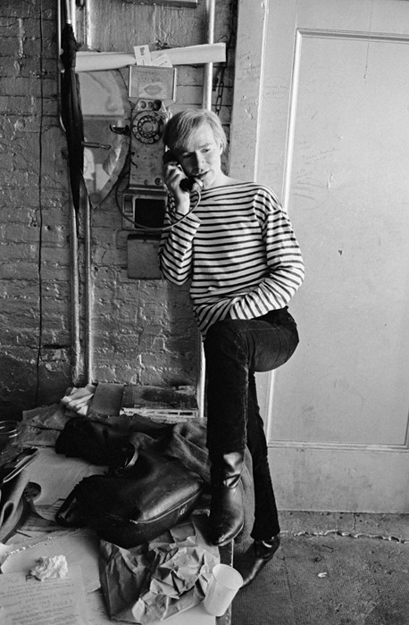 BOB ADELMAN (1930-2016) Andy Warhol at the Factory photograph 1965 [printed later) archival pigment print, AP, signed Paper Size: 19 x 11 inches | 48.3 x 27.9 cm