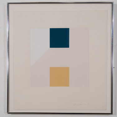 Charles Hinman Study Ochre Green, 1995 graphite, acrylic on paper 19 x 18 inches