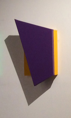 CHARLES HINMAN (b. 1932)  Violet Wing, 2014  acrylic on shaped canvas  28 x 15 x 8 inches