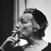 Roy Schatt [1909-2002] Lillian Hellman, playwright circa 1952 [printed later] gelatin silver print, signed, stamped paper size > 19.75 x 16 inches © Estate of Roy Schatt
