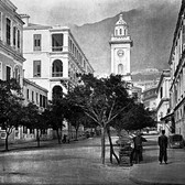 John Thomson (1837-1931)  The Clock-Tower, Hong Kong  circa 1868  gelatin silver print from the glass negative, edition of 350, stamped  16 x 20 inches