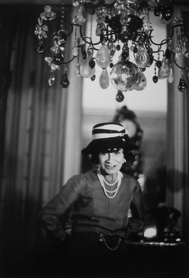 Coco Chanel, House of Chanel, rue Cambon, Paris Photograph circa 1960s (printed later) gelatin silver print, AP, signed Image Size: 14.5 x 9.5 inches   36.8 x 24.1 cm Paper Size: 16 x 12 inches   40.6 x 30.5 cm  Photograph by Hatami (1928-2017)