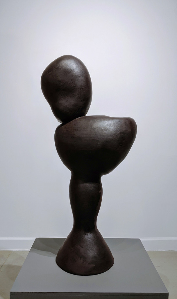 MIRIAM BLOOM Bust, 1992 polychromed terra cotta 39 x 20 x 11 inches | 99.1 x 50.8 x 27.9 cm