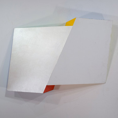 Charles Hinman Pearl Interference, 2008 acrylic on shaped canvas 53 x 31 x 12 inches