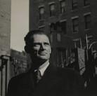Roy Schatt [1909-2002]  Arthur Miller  [photograph circa 1950s]  vintage gelatin silver print, stamped  size > 8 x 10 inches  © Estate of Roy Schatt