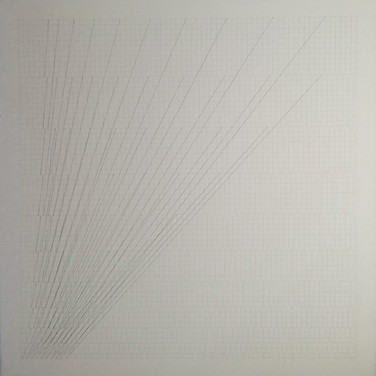 Will Insley (1929-2011) Slip Space, 1969-73 pencil on cardboard, 30.25 x 30.25 inches