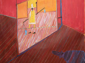 JAMES JUTHSTROM (1925-2007)  Untitled (Balancing Act), circa 1970s  oil on canvas 67.75 x 69.5 inches