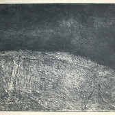 James Juthstrom [1925-2007] Untitled [Reversal] , circa 1950s etching on paper, paper size > 13 x 16.75 inches