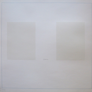 Robert Ryman On the Bowery, 1969  silkscreen on Schollers Parole Paper, edition of 100 + 20 A.P. 25.5 x 25.5 inches, signed, numbered