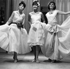 Three Chanel models, circa 1960s  photograph circa 1962-1969 (printed later)  gelatin silver print, AP, signed  image size > 9 x 14.5 inches  Photograph by Hatami (1928-2017)