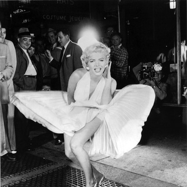 Sam Shaw (1912-1999)  Marilyn Monroe during the filming of the Seven Year Itch, 1954, New York City