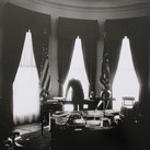 Jacques Lowe (1930-2001)  John F. Kennedy in the Oval Office  photo May 1961 [printed July 1998]  gelatin silver print, AP, signed  paper size > 16 x 20 inches