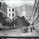 John Thomson (1837-1931)  The Clock-Tower, Hong Kong  photograph circa 1868 (printed later)  gelatin silver print from the glass negative, edition of 350, stamped  16 x 20 inches