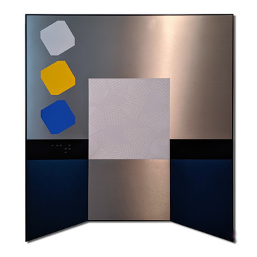 Alan Steele Untitled: Grey Portal, circa 2011 acrylic on laminate on wood 67 x 61 inches