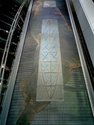 WARREN CARTHER  Approach of Time, Lincoln House, Hong Kong  Dichroic glass  40 x 12 x 2 ft.