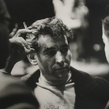 Roy Schatt [1909-2002] Leonard Bernstein (photograph circa 1950s) [reprinted 2002] gelatin silver print, signed, stamped paper size > 16 x 20 inches © Estate of Roy Schatt