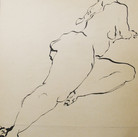 James Juthstrom (1925-2007)  Untitled #78, circa 1950s  Ink on artist paper, 24 x 18 inches