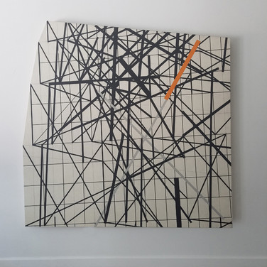 WILL INSLEY (1929-2011) Wall Fragment No. 93.11, 1993 acrylic on masonite 80 x 80 x 3 inches