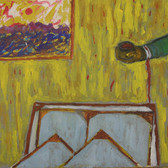 James Juthstrom (1925-2007) Untitled (Studio View) circa early 1990s oil on panel 20 x 24 inches