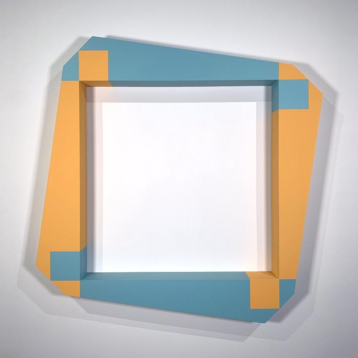 ALAN STEELE Modern Equipment, Fragment 5013, 2020 marine enamel, slate paint, and acrylic on wood Artwork: 38 x 38 x 4 inches | 96.5 x 96.5 x 10.2 cm  Unique, Unframed