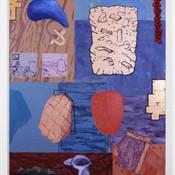 Ron Morosan Reflective Futurology, 2001 oil and acrylic on canvas 45 x 39 inches