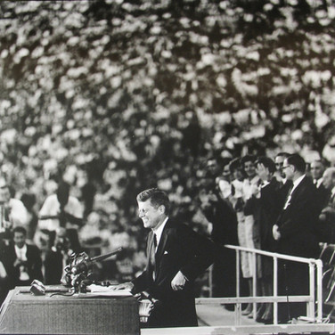 Jaques Lowe (1930-2001) Democratic Convention, Los Angeles Coliseum  photo 1960 [printed later] gelatin silver print, signed paper size > 20 x 16 inches
