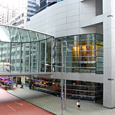 """Lincoln House, Hong Kong  """"Vestige"""" by Warren Carther visible inside"""