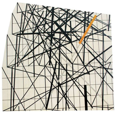 Will Insley [1929-2011] Wall Fragment No. 93.11. 1993 acrylic on masonite, 80 x 80 x 3 inches