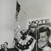Jaques Lowe (1930-2001) John F. Kennedy presidential campaign photo 1960 [printed later] gelatin silver print, signed paper size > 20 x 16 inches