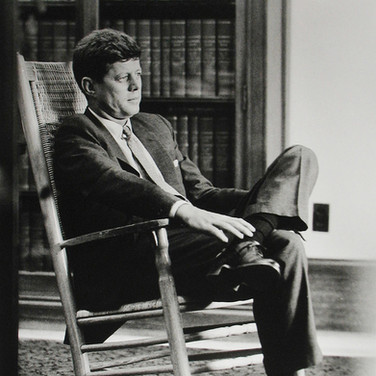 Jaques Lowe (1930-2001) John F. Kennedy in his Senate office photo 1959 [printed later] gelatin silver print, signed paper size > 20 x 16 inches
