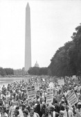 BOB ADELMAN (1931-2016) Marchers en route to the Lincoln Memorial, Washington, D.C. photo 1963 [printed later]  gelatin silver print, edition of 15, signed, numbered  paper size > 20 x 16 inches