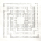 Will Insley [1929-2011]  ONECITY Building Plan (Study), 1978-84  pencil on tracing paper, 40 x 60 inches