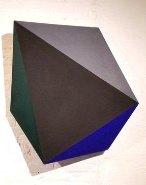 CHARLES HINMAN (b. 1932)  Indochinite, 2013  acrylic on shaped canvas  42 x 39 x 7 inches