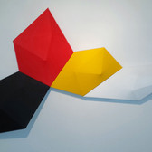 CHARLES HINMAN (b. 1932)  Dusk to Dawn, 2014  acrylic on shaped canvas  43 x 69 x 6 inches