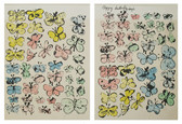 """Two screenprints of colorful butterfly illustrations with text """"Happy Butterfly Days"""""""