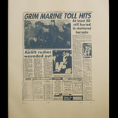 Andy Warhol New York Post, circa 1980-85 Unique screenprint on newsprint paper on linen front lower right stamp © ANDY WARHOL authenticated by Andy Warhol Art Authentication Board, 37 x 26.5 inches