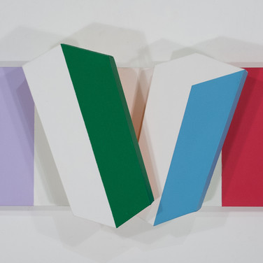 Charles Hinman Color River, 2008  acrylic on shaped canvas 17 x 41.5 x 8.5 inches
