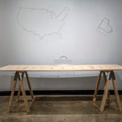 """Nobuho Nagsawa Clear Tooling, 2004 cast, crystal, pyrex, wood  From """"Recent Visions,"""" University Art Gallery, Staller Center for the Arts, Stony Brook University, New York, 2004"""