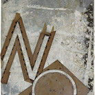 Boris Lurie (1924-2008) NO Stencil, 1963 cardboard, staples, and acrylic on canvas 24.5 x 18 inches