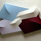 Charles Hinman Expanding, 1985 acrylic on shaped canvas  42 x 70 x 6 inches