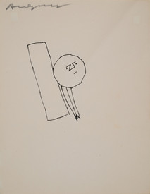 Untitled, circa 1950s ink on paper, signed 11 x 8.5 inches