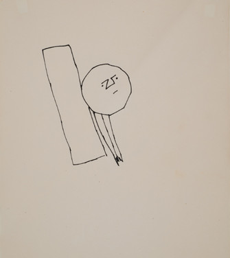 Untitled, 1955-67 ink on paper, signed 11 x 8.5 inches