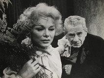 """Eva Gabor and Clarence Derwent act in Frank Wedekind's play """"Lulu,"""" 1958"""