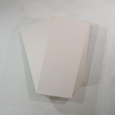 Charles Hinman Peach Twist, 2011 acrylic on shaped canvas 50.5 x 41 x 9.25 inches