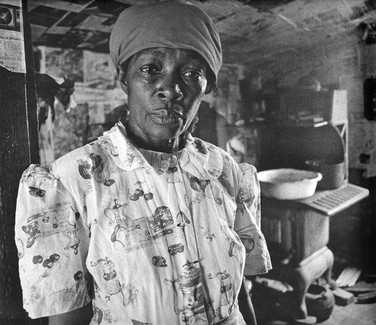 BOB ADELMAN (1931-2016) Mrs. Pettway, Canton Bend, Alabama photo 1966 [printed later]  gelatin silver print, edition of 15, signed, numbered  paper size > 16 x 20 inches