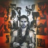 Bryan el Castillo  Self Portrait  oil, mixed media on canvas,  48 x 36 inches