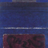 Herman Alfred Sigg  Under the Sign of the River III, 1990  acrylic on canvas,  64 x 46 inches