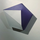 CHARLES HINMAN (b. 1932)  Purple Majesty, 2014  acrylic on shaped canvas  22 x 27 x 6 inches