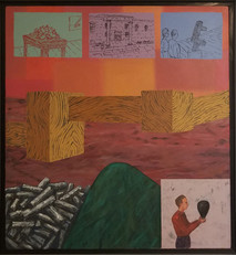 RON MOROSAN Captured Renaissance Property, 1998 oil and acrylic on canvas 24 x 22 inches